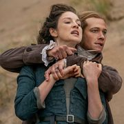 stephen bonnet holds a knife to claire's throat outlander