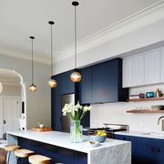 Countertop, Room, Furniture, Kitchen, Interior design, Cabinetry, Property, Building, House, Home,