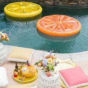 Orange, Table, Food, Grapefruit, Orange, Brunch, Citrus, Peach, Furniture, Dish,