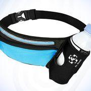 running belt with water bottle