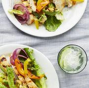 summer salad dinner avocado