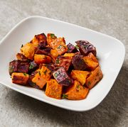 a bowl of cooked sweet potatoes