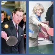 royals playing ping pong