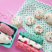 Pink, Pattern, Food, Marshmallow, Confectionery, Snack, Petit four, Comfort food, Baked goods,