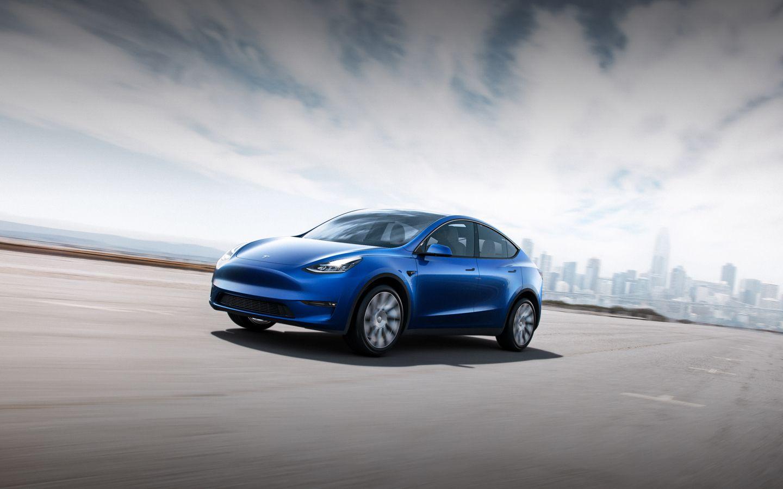Tesla model y front 1552622446