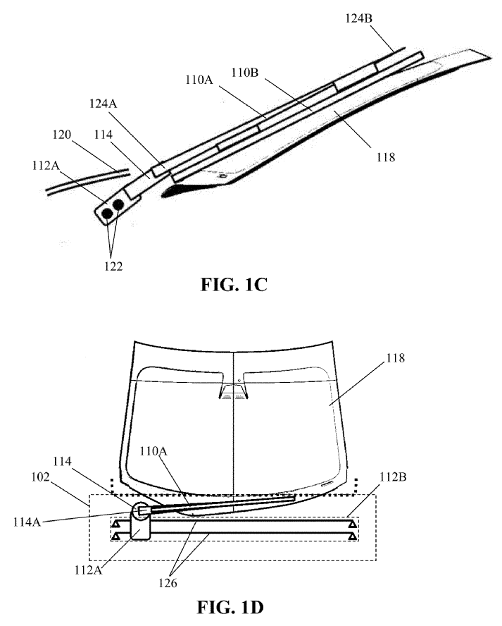 Tesla Patent for Wiper Blades