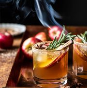 smoky thanksgiving cocktail recipe for harvest apple cider margaritas