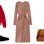 Clothing, Brown, Fashion, Footwear, Dress, Outerwear, Shoe, Style, Costume, Coat,