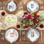 personalized photos thanksgiving table setting idea