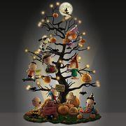 the bradford exchange peanuts halloween it's the great pumpkin tabletop tree