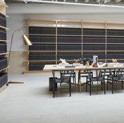 Building, Room, Furniture, Table, Architecture, Interior design, Chair, Flooring, Floor,