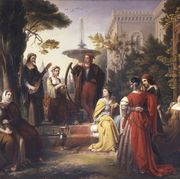 The first day of the Decameron, by Francesco Podesti, 1847, 19th century, oil on canvas