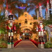 Landmark, Lighting, Tree, Tradition, Architecture, Building, Christmas, Night, Temple, Christmas decoration,