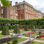 The Pond Gardens in full bloom in summer at Hampton Court...