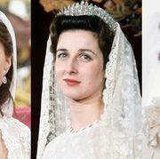 Headpiece, Hair, Hair accessory, Face, Veil, Clothing, Hairstyle, Eyebrow, Bridal accessory, Head,