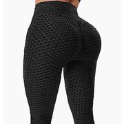 rexchi butt lifting anti cellulite high waisted leggings for women ruched workout yoga pants booty tights