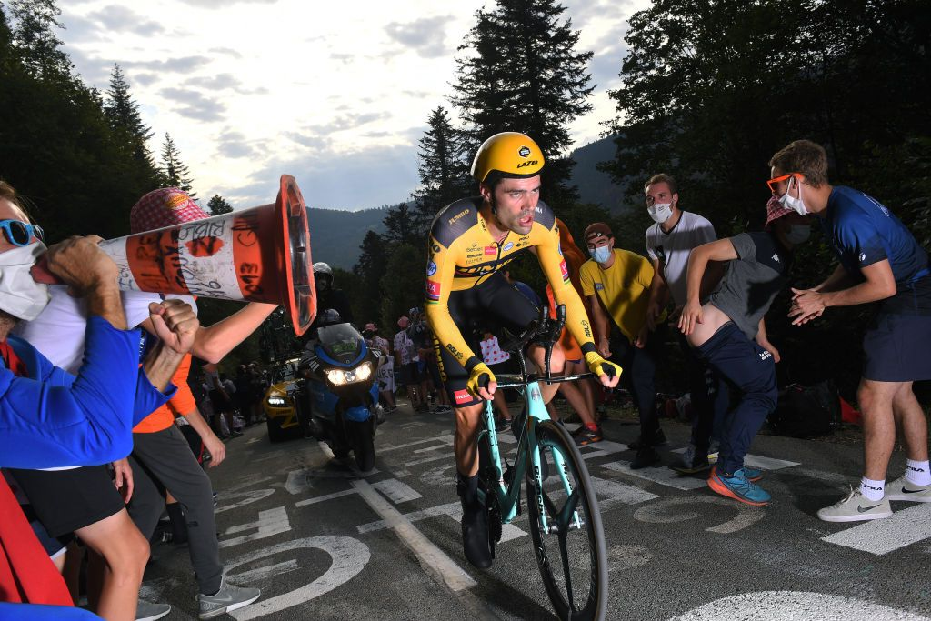 Tom Dumoulin during Stage 20 of the 2020 Tour de France.