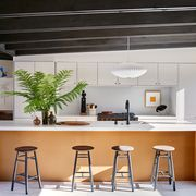 Furniture, Room, Interior design, Kitchen, Property, Countertop, Bar stool, Building, Ceiling, Table,