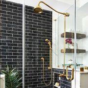 Tile, Room, Property, Interior design, Bathroom, Floor, Home, Furniture, Building, Architecture,
