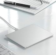 jelly comb trackpad next to apple keyboard
