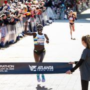 Aliphine Tuliamuk during the 2020 Olympic Marathon Trials