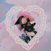 Pink, Organ, Photography, Black hair, Illustration, Magenta, Love, Canidae, Lace, Ear,