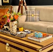 how to style your coffee table like an elle decor editor