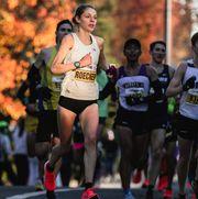 Samantha Roecker wins bronze at the California International Marathon.