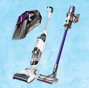 vacuums on a light blue background