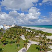 View of Lumnus Park and Ocean Drive, Miami