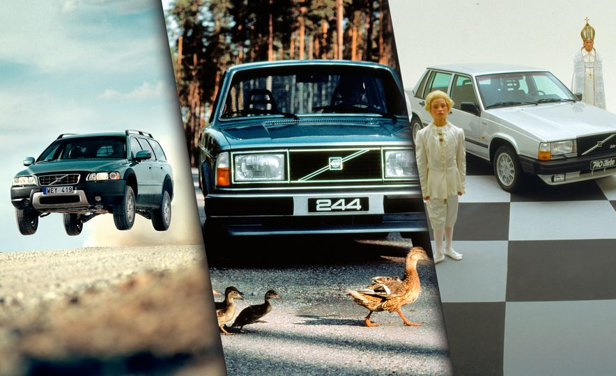 Inappropriately Captioned Vintage Volvo Promotional Photography - Slide 1