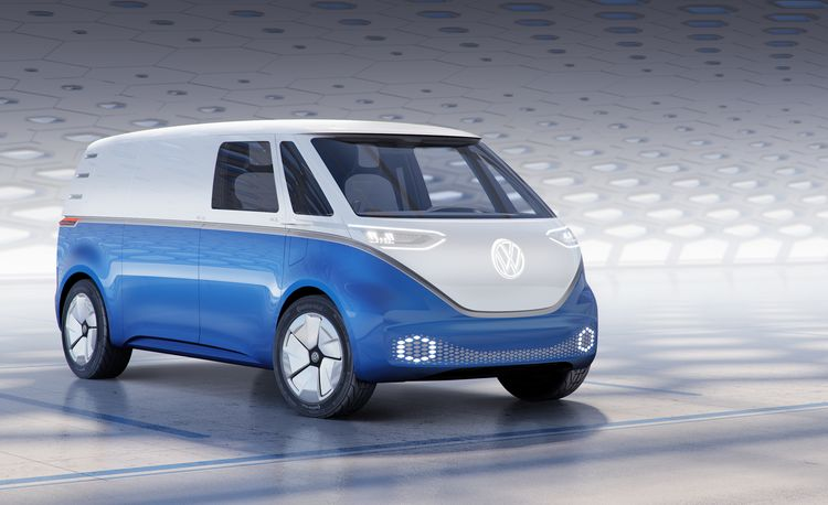 Volkswagen's Adorable Electric Microbus Concept Now Has a Cargo Version