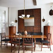 dining room with wall covering