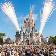 Walt disney world, Amusement park, Landmark, Crowd, Recreation, Park, World, Architecture, Event, Tourist attraction,