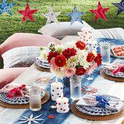 star bunting made from bandanas