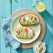 blooming spring toasts whipped cream cheese