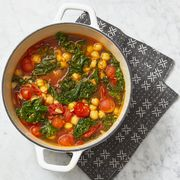 quick chickpea and kale stew