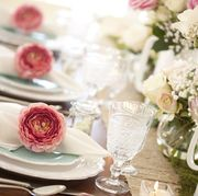 Wedding, Mother's day, Easter or special occasion elegant dining table