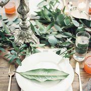 wedding place cards leaf