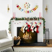 mantel with stockings