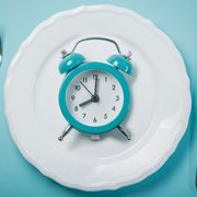 Blue, Clock, Turquoise, Aqua, Home accessories, Wall clock, Cutlery, Turquoise, Fork, Tableware,