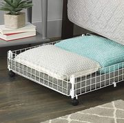 Furniture, Iron, Bed frame, Table, Bed, Room, Metal, Floor, Mattress, Drawer,