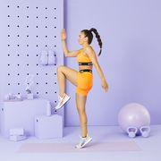 Trainer Tatiana Firpo doing cardio exercise