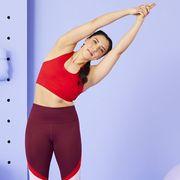 yoga teacher suki clements doing side bends