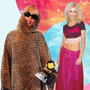 Clothing, Pink, Fashion, Outerwear, Costume, Costume design, Magenta, Dress, Fun, Sari,