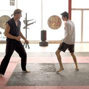 fight scene from netflix's cobra kai