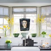 kitchen sink with roman shades