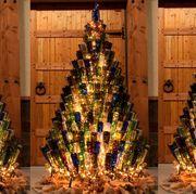 wine bottle christmas tree
