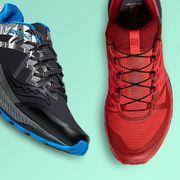 footwear, shoe, sneakers, walking shoe, outdoor shoe, athletic shoe, running shoe, electric blue, cross training shoe, carmine,