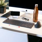 wireless keyboard on desk